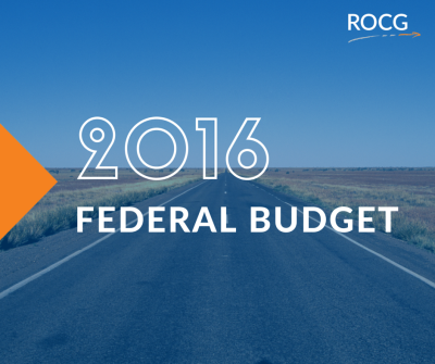 2016 Federal Budget Update